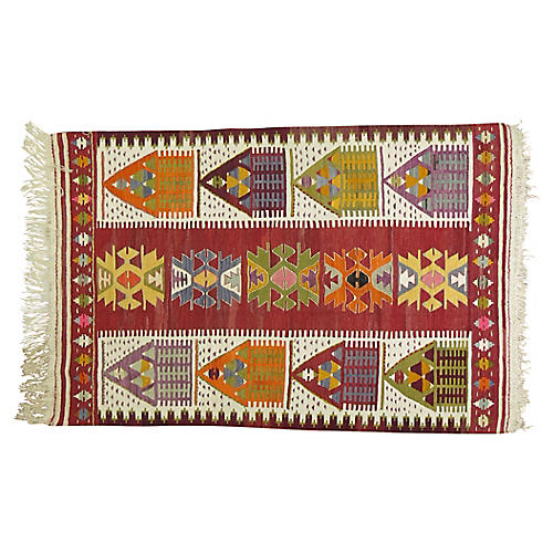 Turkish Kilim, 4'3'' x 6'