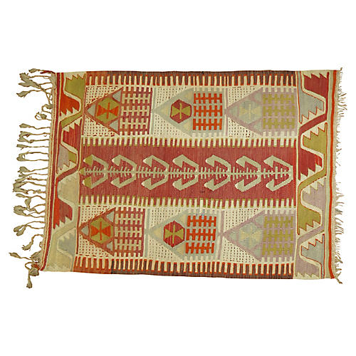 Turkish Kilim, 3'2'' x 4'1''