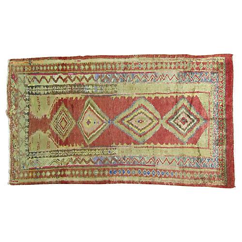 Vintage Turkish Rug,4'2' x 7'4''