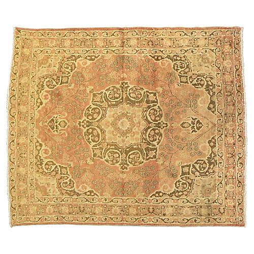 "Antique Persian Tabriz Rug, 4'2'' x 5'2"""