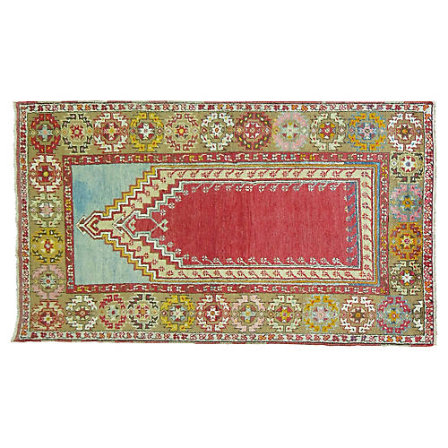 "Turkish Prayer Rug, 3'3"" x 5'8"""
