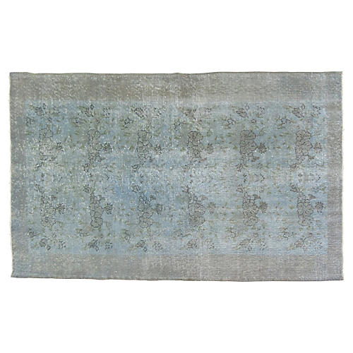 "Gray Overdyed Rug, 3'10"" x 5'7"""