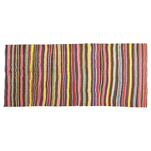 """Striped Kilim, 4'9"""" x 10'7"""""""