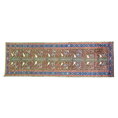Tree-of-Life Persian Runner, 4' x 12'7""