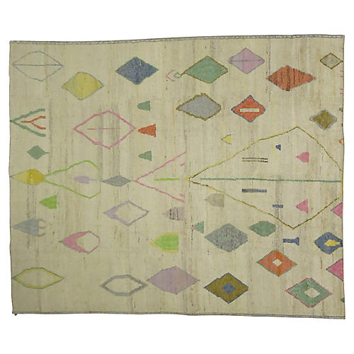 "Turkish Tulu Carpet, 10' x 13'8"""