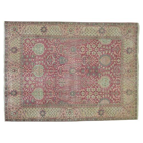 Pink Indian Rug, 5' x 6'8''