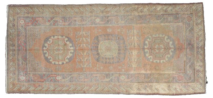 "Antique Khotan Rug, 9'10"" x 4'6"""