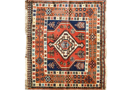 Antique Kazak Rug, 3'8