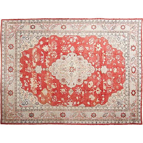 """Antique Oushak Carpet, 11' x 16'3"""""""