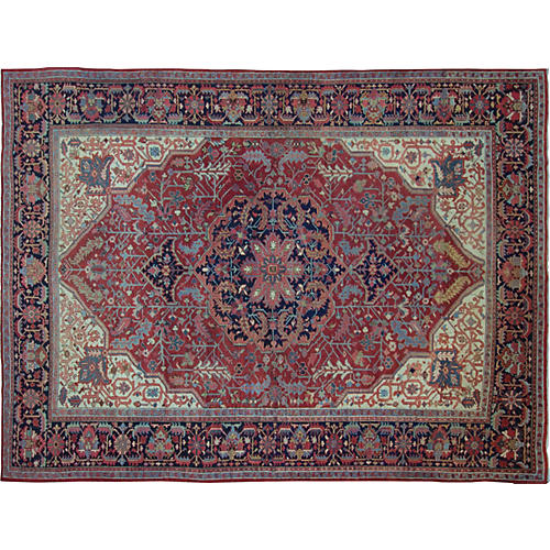 "Persian Heriz Carpet, 9'3"" x 12'1"""
