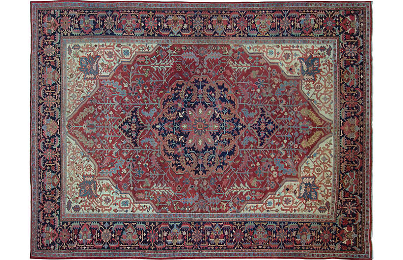 Persian Heriz Carpet, 9'3