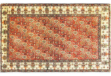 Antique Zel-I-Sultan Rug, 4' x 6'7