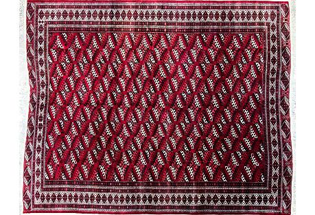 Persian Turkoman Carpet, 9'6