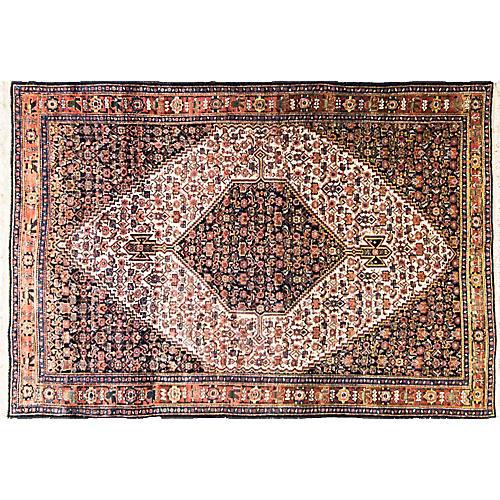 "Antique Persian Senneh, 4'6"" x 6'8"""