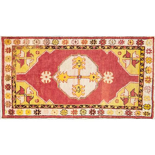 """Anatolian Oushak Rug, 2'8"""" x 5'"""