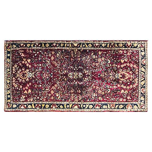 """Persian Sarouk Rug, 2' x 4'1"""""""