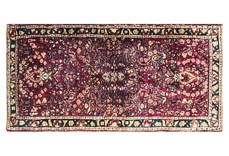 Persian Sarouk Rug, 2' x 4'1