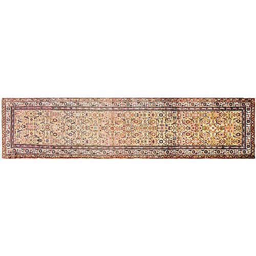 "Persian Malayer Runner, 3'4"" x 14'4"""