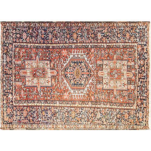 """Persian Karaja Rug, 4'6"""" x 6'6"""""""