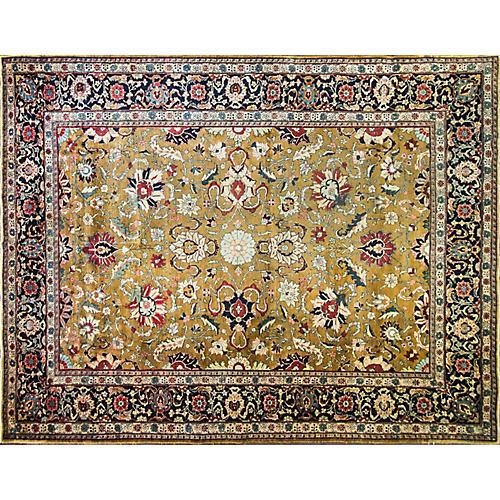 """Persian Tabriz Rug, 8'10"""" x 11'7"""""""