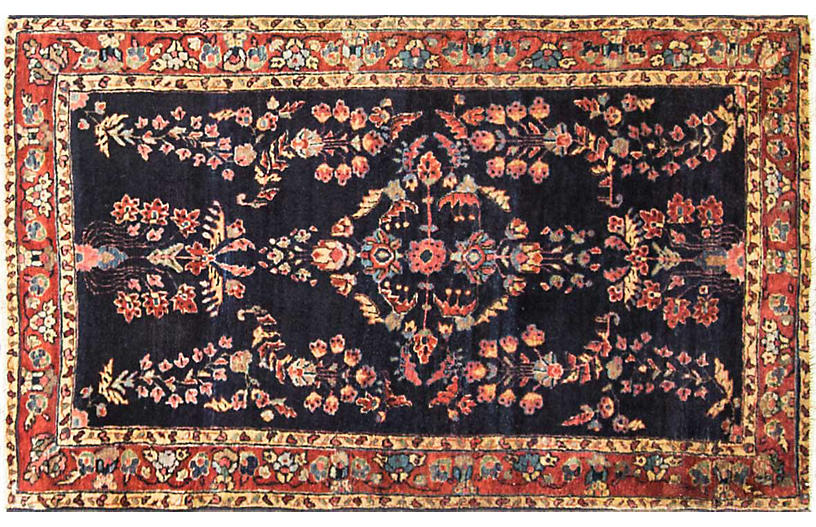 Persian Sarouk Rug, 2'10