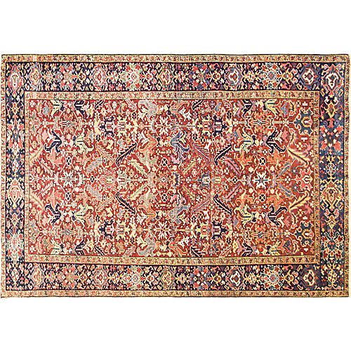 "Dragon Heriz Carpet, 7'8"" x 11'"
