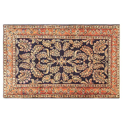 "4'2"" x 6'7"" Persian Mohajeran Sarouk Rug"