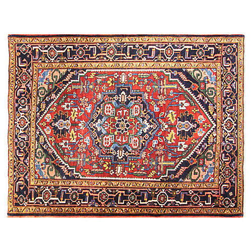 "4'10' x 6'3""Incredible Persian Heriz Rug"