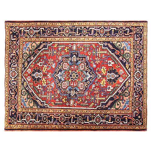 "4'10' x 6'3"" Persian Heriz Rug"