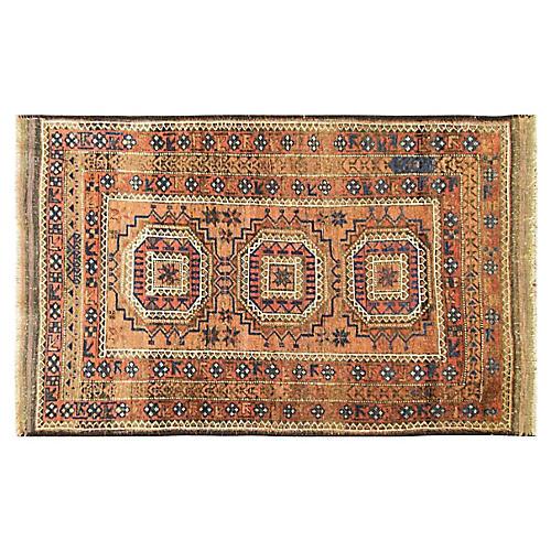 "2'10"" x 4'8"" Antique Afghan Ersary Rug"