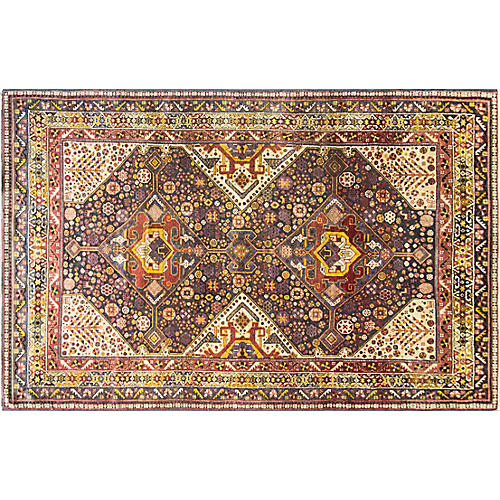 "5'9"" x 9' Unusual Persian Qashqai Carpet"