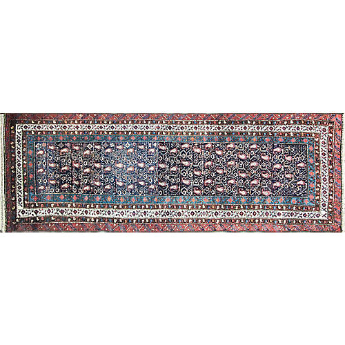 "3'4"" x 10'3"" Antique Kurdish Runner"