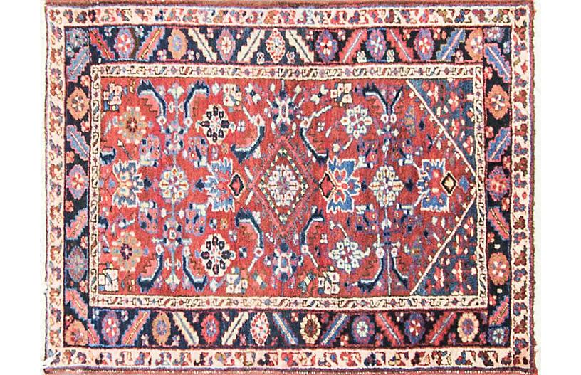 Persian Heriz Rug, 3'4