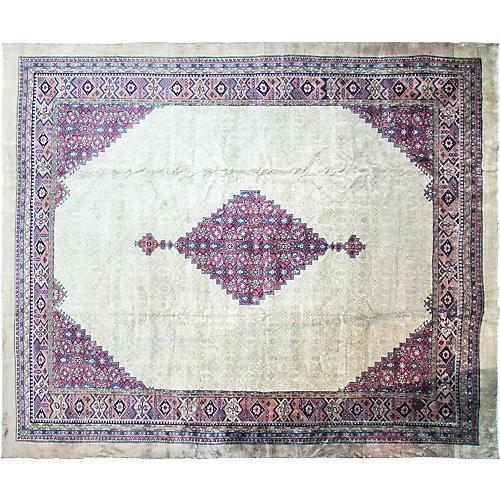 Antique Serab Rug, 12' x 14'