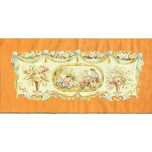 "Aubusson Tapestry, 62"" x 34"""