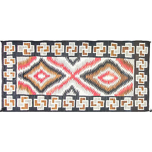 "Navajo-Style Eye Dazzler Rug, 4'2""x9'4"""