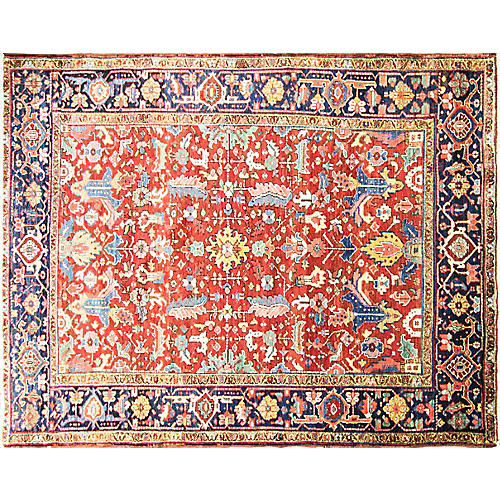 "Dragon Heriz Carpet, 7'9"" x 10'"