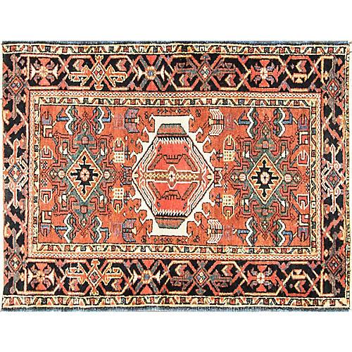 """Persian Karaja Rug, 3'4"""" x 4'5"""""""