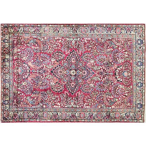 """Persian Sarouk Rug, 3'3"""" x 5'3"""""""