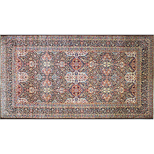 "Persian Kashan Carpet, 8'9"" x 16'3"""