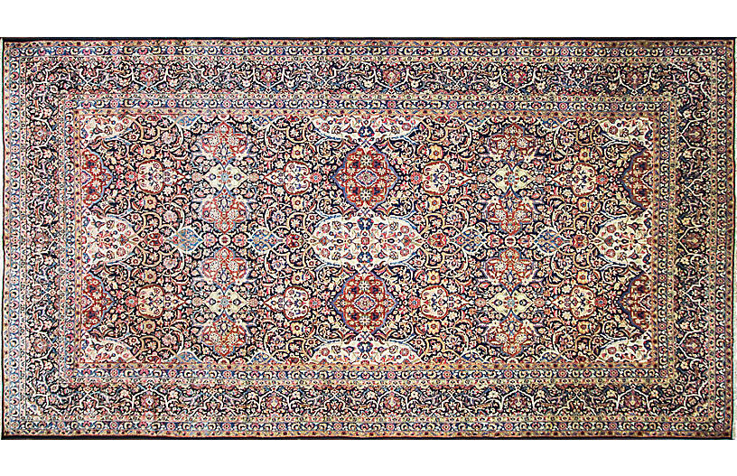 Persian Kashan Carpet, 8'9
