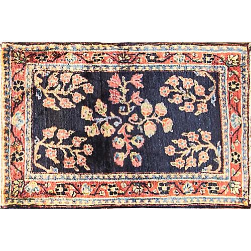 "Antique Persian Sarouk Rug, 1'8"" x 2'7"""