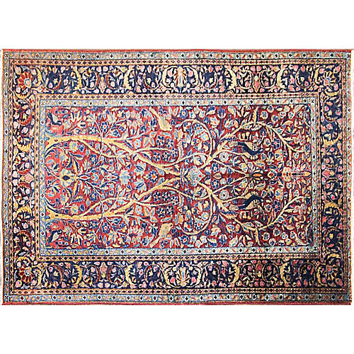 "Tree of Life Kashan Rug, 3'4"" x 4'10"""