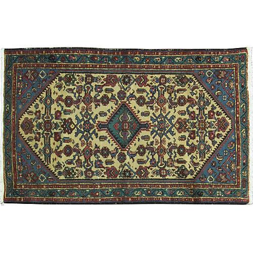 "1920s Persian Malayer Rug, 2""6"" x 4'1"""