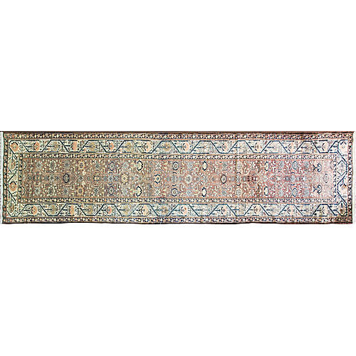 "Antique Persian Malayer Rug, 3'7""x14'4"""