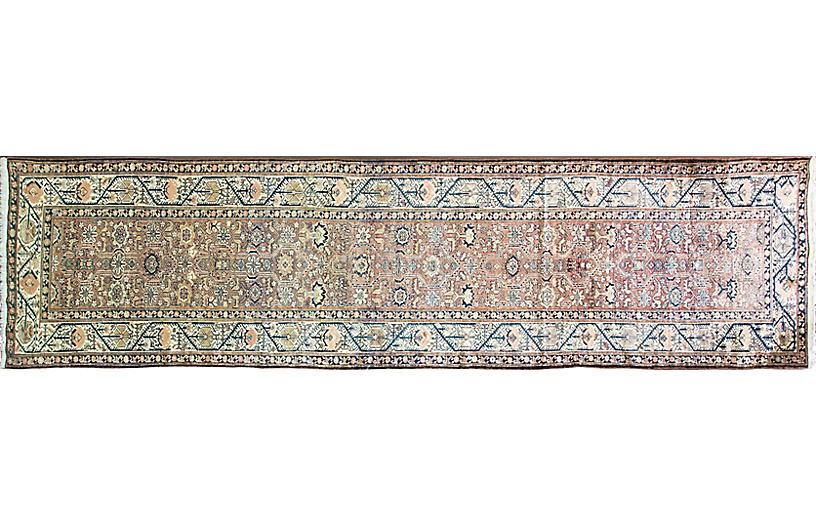 Antique Persian Malayer Rug, 3'7