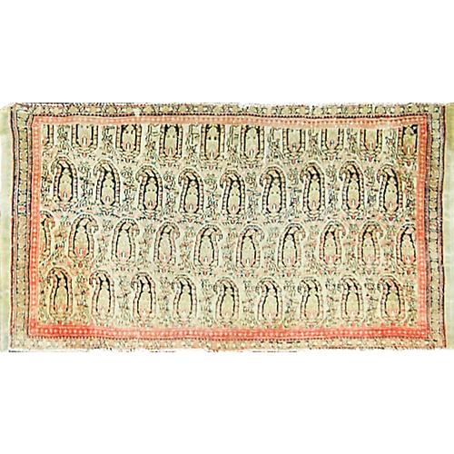 "Antique Persian Senneh Rug, 22"" x 41"""