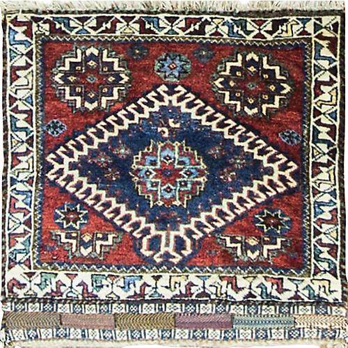 """Qashqai Persian Rug, 2'4"""" x 2'5"""""""