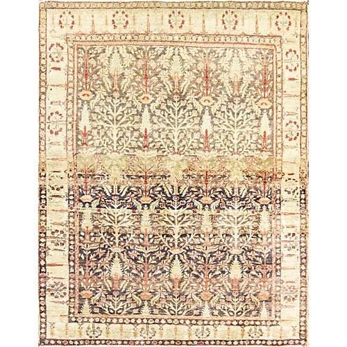 """Antique Turkish Sivas Rug, 5'8"""" x 4'2"""""""