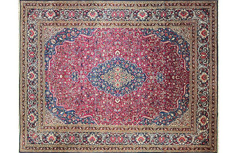 Persian Dabir Kashan Rug, 8'11